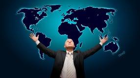Die Welt ist meine - vordere Version Stockbilder