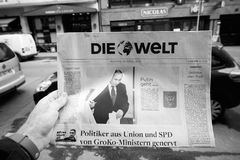 Die Welt  Russian presidential election from 2018 with the winne Stock Photos