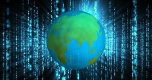 Die Welt und die Digitaltechnik 4k stock video footage