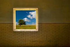 Die Weltaußenseite Stockfoto