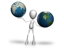 Die Weltbalance Lizenzfreie Stockfotos