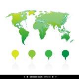 Die Weltkarteikone 2, die für irgendwelche groß ist, verwenden Vektor eps10 Lizenzfreies Stockfoto