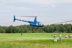 Die weltweiten Konkurrenzen auf Hubschraubersport Lizenzfreie Stockfotografie