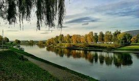 Die Weser in Rinteln. River Germany Rinteln Stock Image