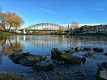 Die Weser in Rinteln. RIVER IN germany royalty free stock image