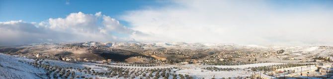 Die West Bank im Winter Stockfotos