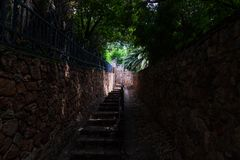 Die Westcliff-Treppe in Johannesburg Stockbild