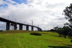 Die Westgatterbrücke in Melbourne, Australien lizenzfreie stockfotografie