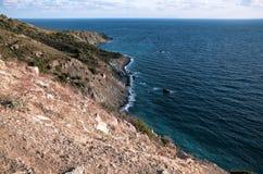 Die Westküste von Elba Island lizenzfreies stockfoto