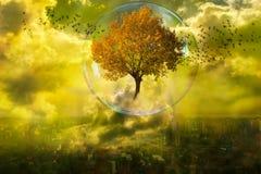 Die Wiedergeburt der Natur Stockbild