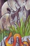 Die wilden Tiere Lizenzfreies Stockbild