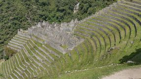 Die Winaywayna-Ruinen Lizenzfreie Stockfotos