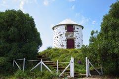 Die Windmühlen in natürlichem Parque tun Litoral Stockfotografie