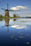 Die Windmühlen von Kinderdijk Lizenzfreies Stockfoto