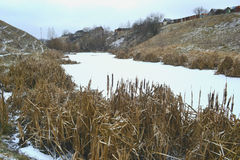 Die Winteranfanglandschaft Stockbild