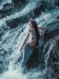 Die wirkliche Meerjungfrau stockfotografie