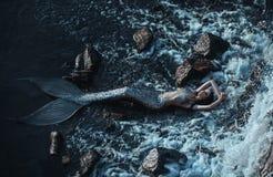 Die wirkliche Meerjungfrau Lizenzfreie Stockfotos