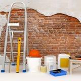 Die Wohnung ist im Bau und Erneuerung Stockfotografie