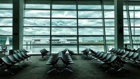 Die Wolke im Lufthafen Stockfotos