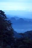 Die Wolke und der Nebel des Sanqingshan Berges Stockbild