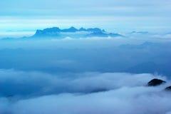 Die Wolke und der Nebel von Sanqingshan mountai Lizenzfreies Stockbild