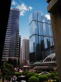 Die Wolkenkratzer in Bangkok-Stadt lizenzfreie stockfotografie