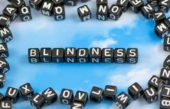Die Wort Blindheit Stockfotos