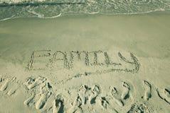 Die Wort Familie stockfotos