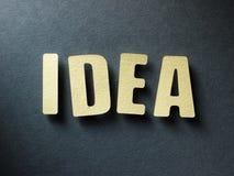 Die Wort Idee auf Papierhintergrund Lizenzfreie Stockfotos