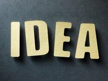 Die Wort Idee auf Papierhintergrund Lizenzfreie Stockbilder