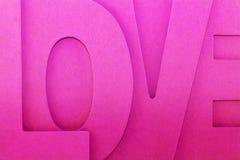Die Wort Liebe Lizenzfreie Stockbilder