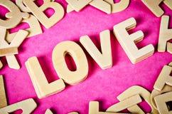 Die Wort Liebe Stockfotografie