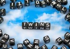 Die Wort Zwillinge lizenzfreies stockbild