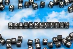 Die Wortauferstehung stockfoto