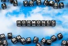 Die Wortgesicht Hormone Stockbilder