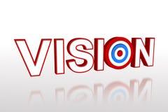 Die Wortvision mit Ziel Lizenzfreies Stockbild