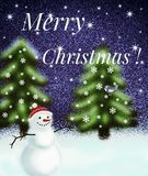 Die Wunder von Weihnachtsabend Lizenzfreies Stockfoto