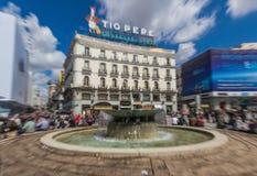 Die wunderbare alte Stadt Madrid, Spanien stockbild