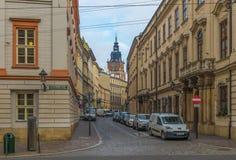 Die wunderbare alte Stadt von Krakau, Polen stockfotografie
