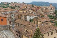 Die wunderbare alte Stadt von Perugia, Italien stockfotos