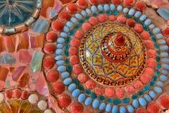 Die wunderbare Schüsseldekoration im thailändischen Tempel stockbild