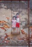 Die wunderbare Straßenkunst von Georgetown, Malaysia stockfoto