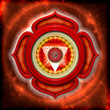 Die Wurzel Chakra stock abbildung