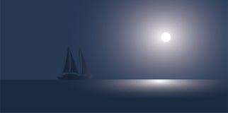 Die Yacht in dem Ozean Stockbild