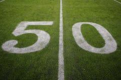 Die Yard-Line 50 Lizenzfreie Stockfotos