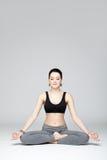 Die Yogafrau Stockbild