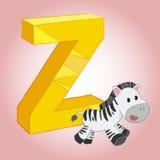 Die z-Zebra-Alphabetikone, die für irgendwelche groß ist, verwenden Vektor eps10 vektor abbildung