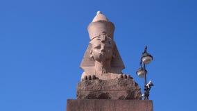 Die Zahl der ägyptischen Sphinxes stock video