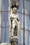 Die Zahl des Ritters auf einem Turm Lizenzfreies Stockfoto