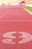 Die Zahl verwendet für Athleten Stockbilder